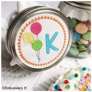 Mason Jar Embroidery Design