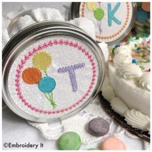 Mason Jar Decorating with Machine Embroidery