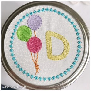 Machine Embroidery for Tops of Mason Jars