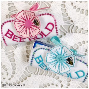 Bee Bold 3D Machine Embroidery Candy Wrapper Design