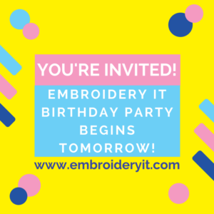Embroidery It Birthday Party