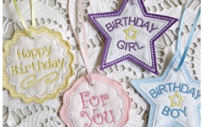 Applique Birthday Gift Tags and Bonus Design – Embroidery It Birthday Party Day 2