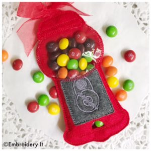 machine embroidery gumball machine candy holder