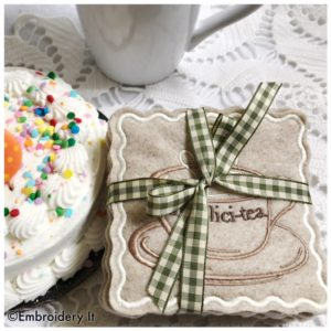 Inspirational Teacup in the hoop coasters