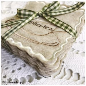Inspirational teacup coasters gift set