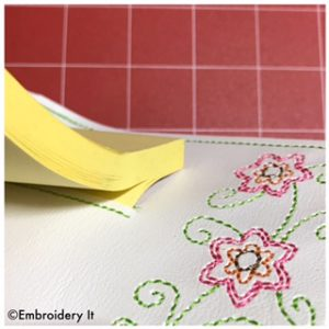 Machine Embroidery in the hoop notepad holder