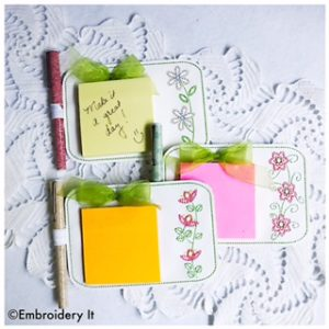 Machine Embroidery In the Hoop Notepad Holders