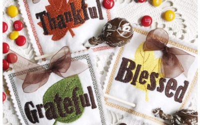 Gratitude Lollipop Holders Machine Embroidery Designs