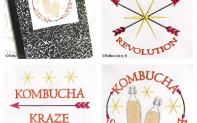 Kombucha Machine Embroidery Designs