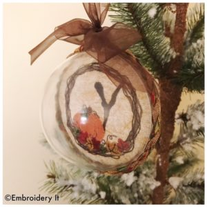 Machine Embroidery Plastic Christmas bulb
