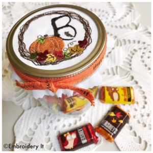 Machine Embroidery for canning jars