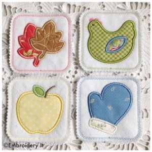 in the hoop, applique coasters by Embroidery It