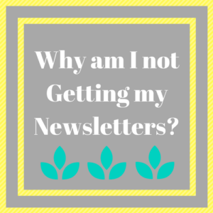 Why am I not getting my newsletters